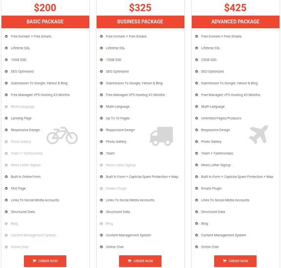 Technoreon Web Design Pricing